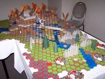 Friday: Yea, I know everyone is posting pictures of the huge Heroscape setup, but it was really impressive. Too bad it didn't get much play. Maybe too big.