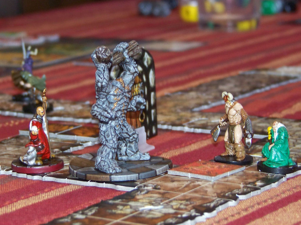 Feb 28: Onyx the wizard sends his golem bodyguard out to stop the advancing heroes.
