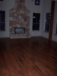 May 8: The hardwood floor was also installed in the living room.